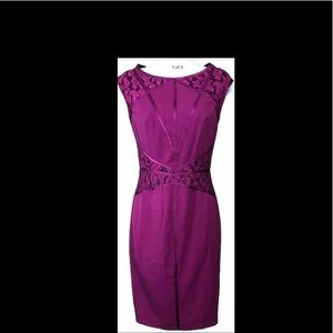 Venus, Womens Elegant Plum , Bodycon dress. Size4
